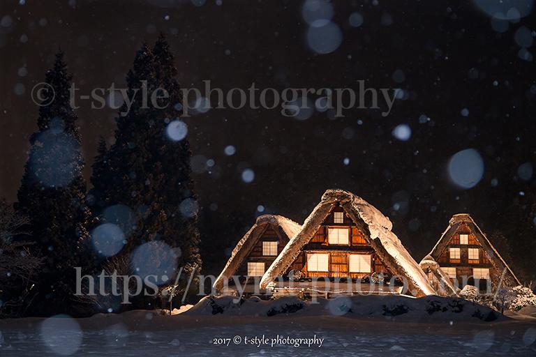 白川郷の冬景色