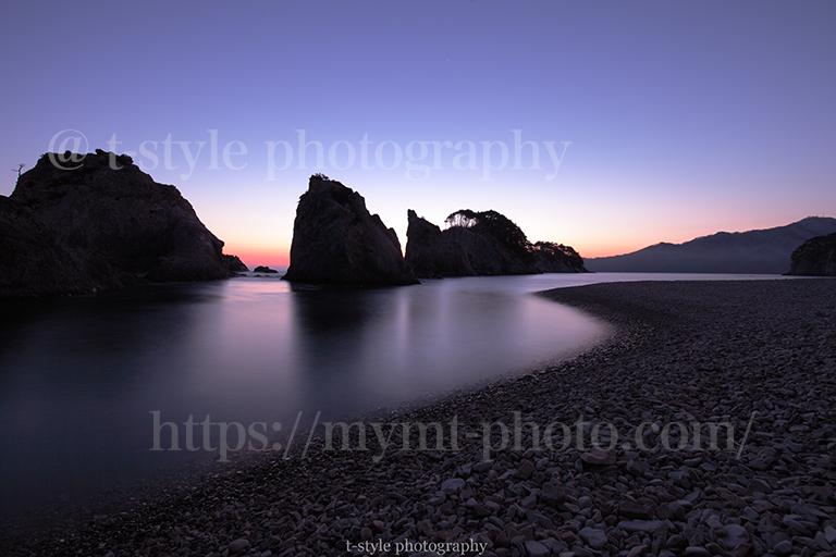 夜明けの浄土ヶ浜