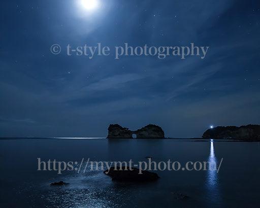 月と円月島の組み合わせが最高過ぎた!!