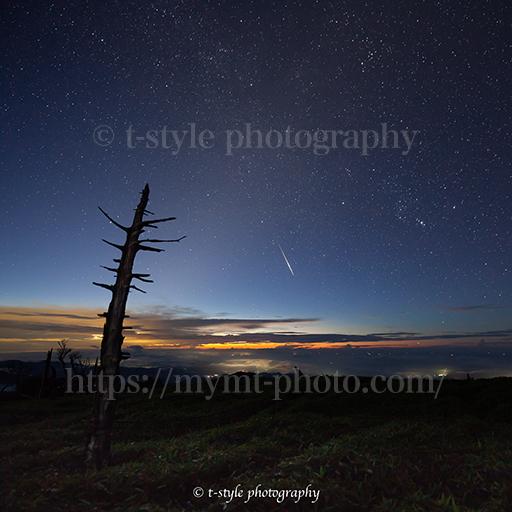 大台ヶ原で撮影したペルセウス座流星群とオリオン座