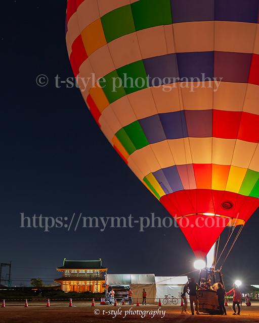 平城京天平祭での熱気球