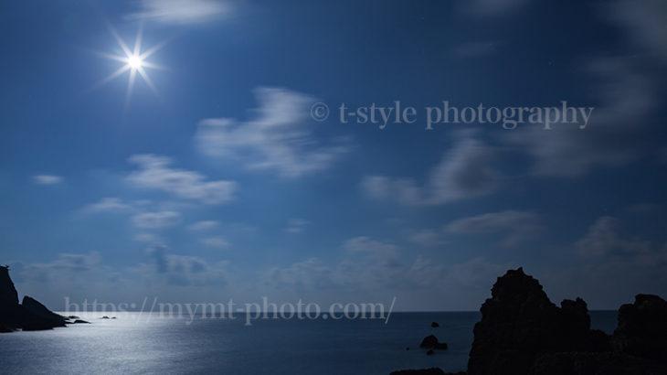日本海から見る中秋の名月