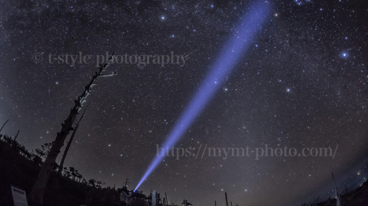 大台ヶ原で見た秋の天の川とオリオン座