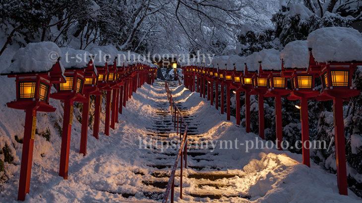 貴船神社の雪景色